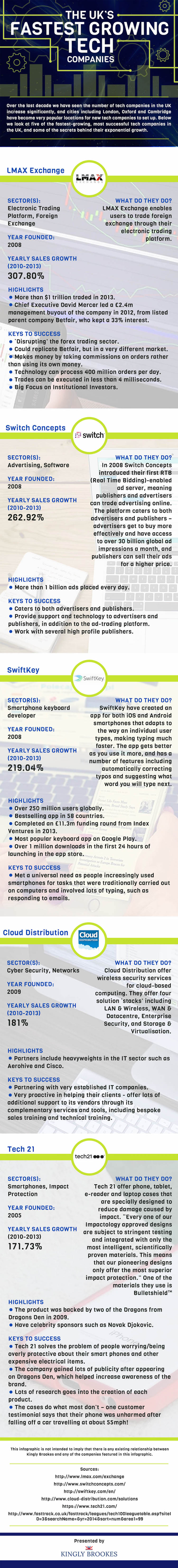 Fastest Growing Tech Companies Infographic